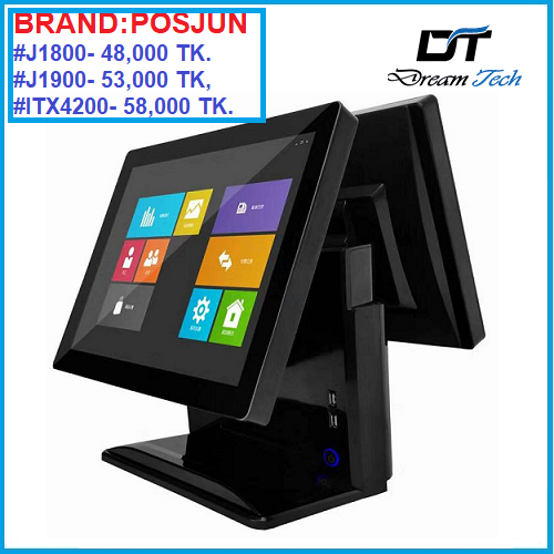 Double Screen All In One Pos Machine i3i5
