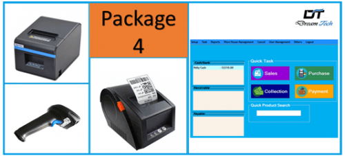 Point Of Sale POS Software 4 in 1 Full package