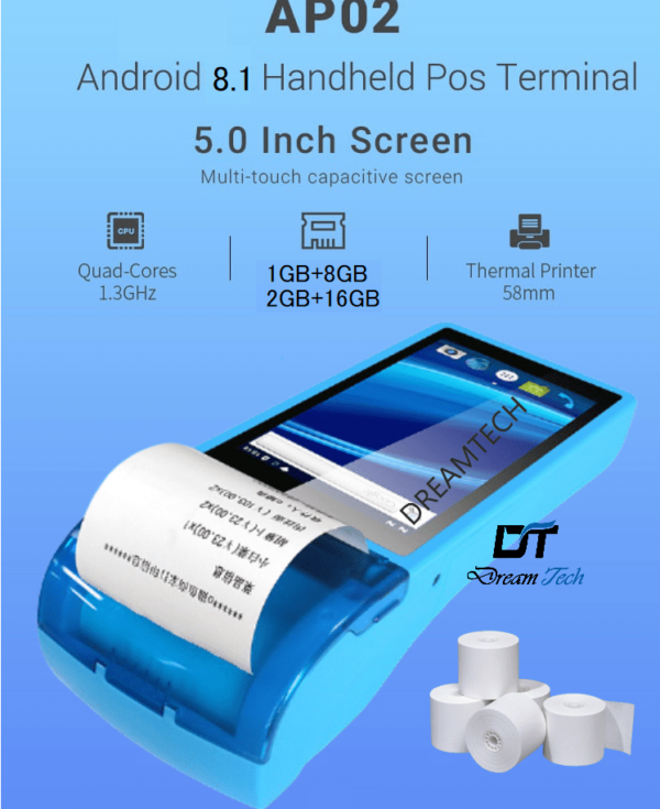 AP02 Handheld Android Touch POS Machine